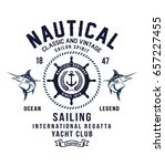 vintage sailor typography for t ... | Shutterstock .eps vector #657227455