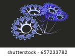 fractal bouquet flowers... | Shutterstock . vector #657233782