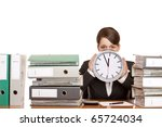 woman in office is stressed... | Shutterstock . vector #65724034