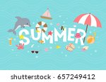 Summer Text With Sea Creatures...