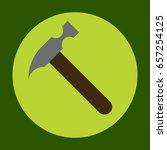 hammer icon in trendy flat...
