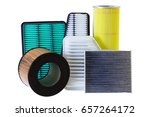 composition of air filters for... | Shutterstock . vector #657264172