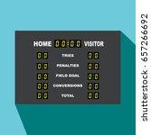 rugby scoreboard vector... | Shutterstock .eps vector #657266692