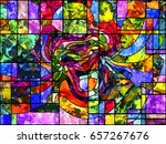 Stained Glass Series. Artistic...