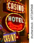 golden gate hotel and casino in ... | Shutterstock . vector #657269068