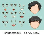faceless man and different... | Shutterstock .eps vector #657277252
