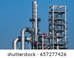 close up industrial view at oil ... | Shutterstock . vector #657277426