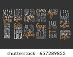 but first coffee.coffee keeps... | Shutterstock .eps vector #657289822