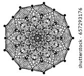 mandalas for coloring book.... | Shutterstock .eps vector #657293176