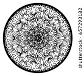 mandalas for coloring book.... | Shutterstock .eps vector #657293182