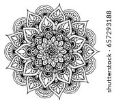 mandalas for coloring book.... | Shutterstock .eps vector #657293188