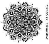 mandalas for coloring book.... | Shutterstock .eps vector #657293212