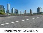 empty asphalt road front of...   Shutterstock . vector #657300022