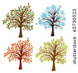 four seasons trees  vector... | Shutterstock .eps vector #65730523