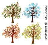 four seasons trees  vector... | Shutterstock .eps vector #65730523