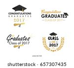 set of vector graduates class... | Shutterstock .eps vector #657307435