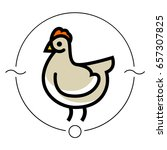 stylized vector chicken hen  ... | Shutterstock .eps vector #657307825
