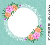 invitation or greeting card... | Shutterstock .eps vector #657308722