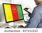 business man and woman select...   Shutterstock . vector #657312232