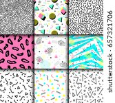 universal memphis 80 90... | Shutterstock .eps vector #657321706