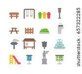 flat design park item set... | Shutterstock .eps vector #657322285