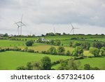a wind farm situated on the... | Shutterstock . vector #657324106