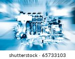 car engine | Shutterstock . vector #65733103