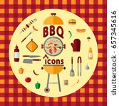 bbq. icon set for web and... | Shutterstock .eps vector #657345616
