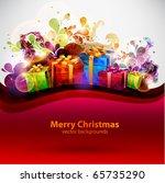 christmas background | Shutterstock .eps vector #65735290