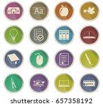 school vector icons for user... | Shutterstock .eps vector #657358192