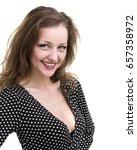 self portrait of beautiful... | Shutterstock . vector #657358972