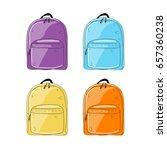 backpack mockup  sketch for... | Shutterstock .eps vector #657360238