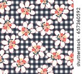 pretty vintage feedsack pattern ... | Shutterstock .eps vector #657360592