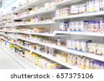 medicine products placed in... | Shutterstock . vector #657375106