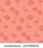 flamingo  summer  holiday ... | Shutterstock .eps vector #657385846
