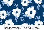 pale color summer floral... | Shutterstock .eps vector #657388252