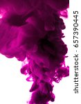 purple ink in water isolated on ... | Shutterstock . vector #657390445
