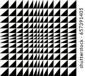 black and white triangle op art ... | Shutterstock .eps vector #657391405