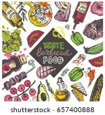 bbq food. hand drawn doodle... | Shutterstock .eps vector #657400888
