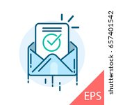 envelope with confirmation... | Shutterstock .eps vector #657401542