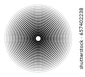concentric circles with... | Shutterstock .eps vector #657402238