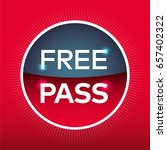 free pass red blue circle sign... | Shutterstock .eps vector #657402322