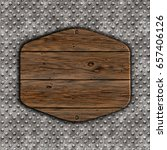3d render of a grunge wood sign ... | Shutterstock . vector #657406126