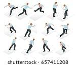 isometric set of businessman...   Shutterstock .eps vector #657411208