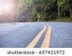 empty asphalt road and forest.... | Shutterstock . vector #657421972