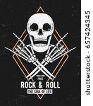 rock music graphic design with... | Shutterstock .eps vector #657424345