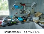 dirty kitchen should be cleaned. | Shutterstock . vector #657426478