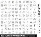 100 country house icons set in... | Shutterstock .eps vector #657433678