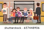 passengers of the underground.... | Shutterstock .eps vector #657448906