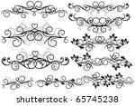 set of decorative elements | Shutterstock .eps vector #65745238